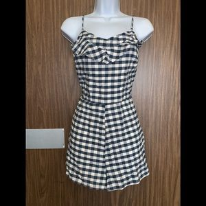 Gingham pin Up Style Play Suit Romper